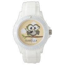 Personalized Yellow Owl Wristwatch