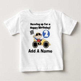 Personalized Yellow Race Car 2nd Birthday Tshirt