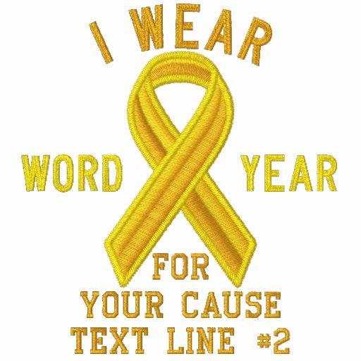 Personalized Yellow Ribbon Awareness Embroidery T-Shirt, Hoodie, Sweatshirt