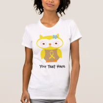Personalized Yellow Ribbon Owl T Shirt