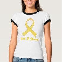 Personalized Yellow Ribbon Tee shirt Gift