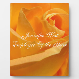 Personalized Yellow Rose Plaque