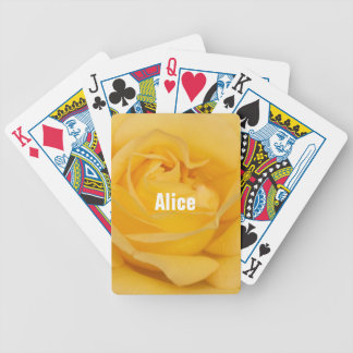 Personalized Yellow Rose Playing Cards