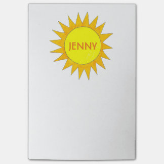 Personalized Yellow Sun Sunshine Sunny Day Post It Post-it Notes