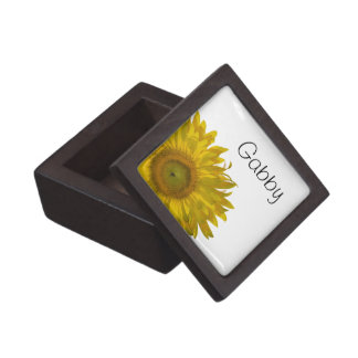Personalized Yellow Sunflower Gift Box