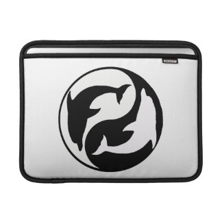 Personalized Yin Yang Dolphins Macbook Sleeve
