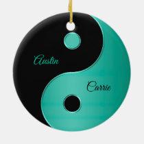 Personalized Yin-Yang Holiday Christmas Ornament