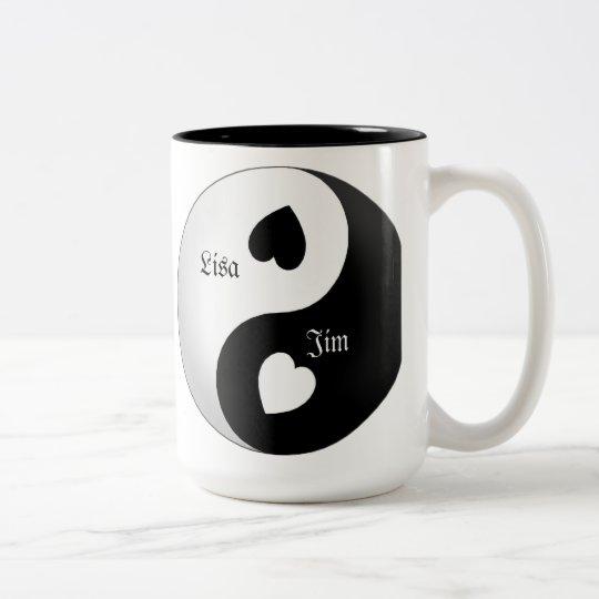 Personalized Yin Yang Love Mug