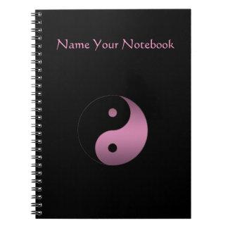 Personalized Yin Yang Symbol Notebook