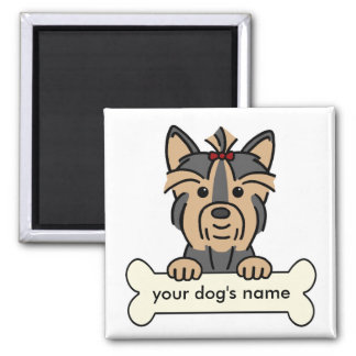 Personalized Yorkie 2 Inch Square Magnet