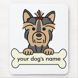 Personalized Yorkie Mouse Pad