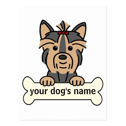 Personalized Yorkie Post Card