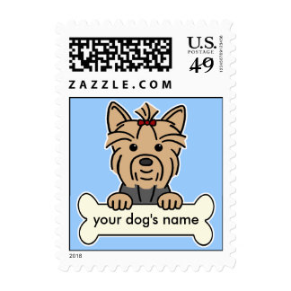 Personalized Yorkie Postage Stamp