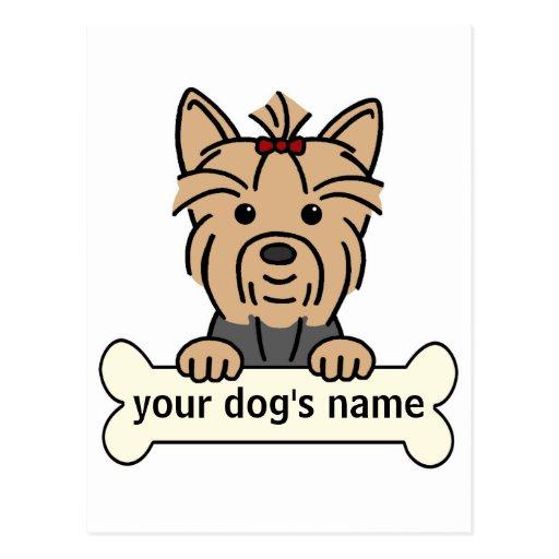Personalized Yorkie Postcard