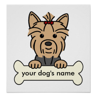 Personalized Yorkie Posters