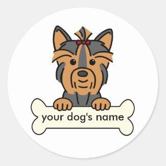 Personalized Yorkie Stickers