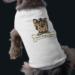 """Personalized Yorkie T-Shirt<br><div class=""""desc"""">An adorable Yorkie cartoon! Type in your dog&#39;s name or any text you want to create a custom design. Show you love your Yorkie with these personalized dog products. A great gift for Yorkie owners!</div>"""