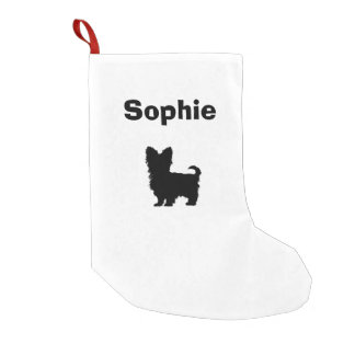 Personalized Yorkshire Terrier Stocking Small Christmas Stocking