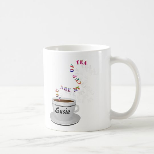 personalized you are my cup of tea mug zazzle com
