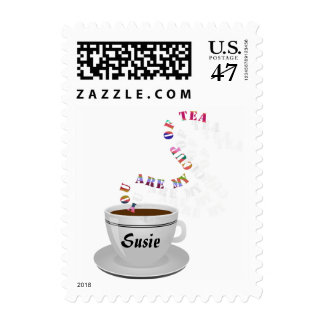 Personalized You Are My Cup of Tea Small Stamps