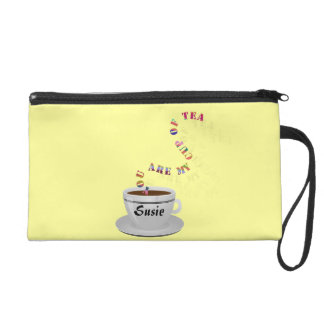Personalized You Are My Cup of Tea Wristlet