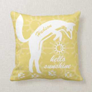 Personalized You Are My Sunshine Fox Tracks Pillow
