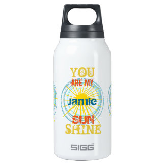Personalized You Are My Sunshine Insulated Water Bottle