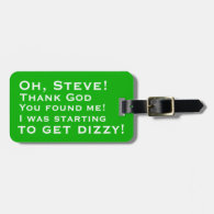Personalized You Found Me Luggage Tags