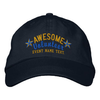 Personalized Your Cap Awesome Volunteer Embroidery Embroidered Baseball Cap