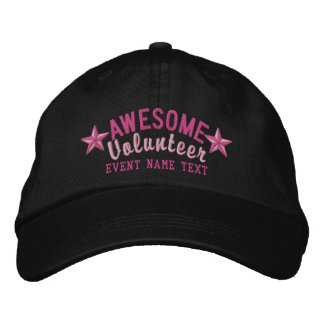Personalized Your Cap Awesome Volunteer Embroidery Embroidered Hat