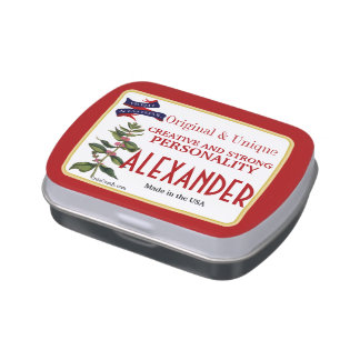Personalized Your Famous Name Peppermint Tins Jelly Belly Candy Tins