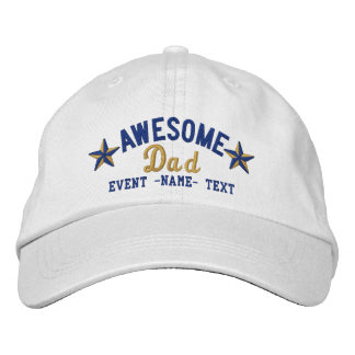 Personalized Your Name Awesome Dad Embroidery Embroidered Baseball Hat
