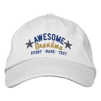 Personalized Your Name Awesome Grandma Embroidery Cap