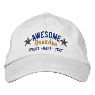 Personalized Your Name Awesome Grandpa Embroidery Embroidered Baseball Cap