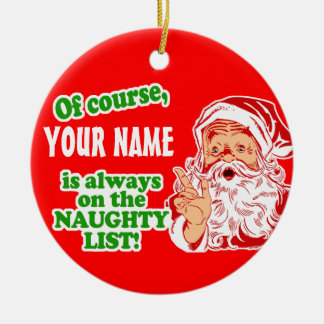 Personalized YOUR NAME Christmas Ceramic Ornament