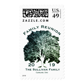 Personalized Your Name Family Reunion Oak Tree Postage
