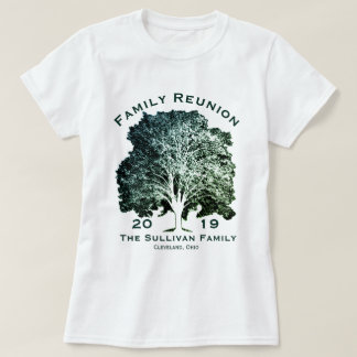 Personalized Your Name Family Reunion Oak Tree T-Shirt