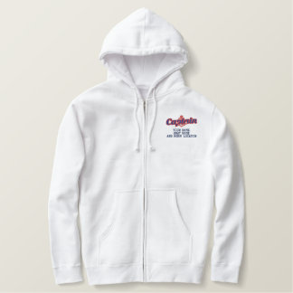 Personalized Your Name Sea Captain Anchor Embroidered Hoodie