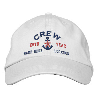 Personalized Your Name Year Crew Star Anchor Cap