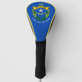 Personalized Your Text Nevada State Flag on a Golf Head Cover