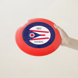 Personalized Your Text Ohio State Flag on a Wham-O Frisbee
