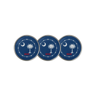 Personalized Your Text South Carolina State Flag Golf Ball Marker
