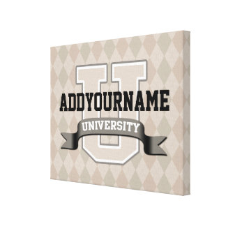 Personalized YourName University Stretched Canvas Prints