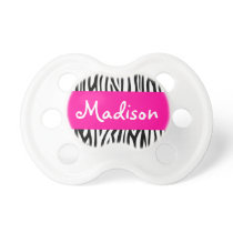 Personalized Zebra Pink Pacifier