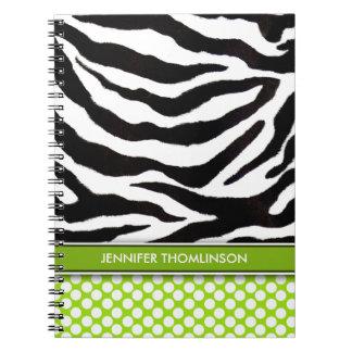 Personalized Zebra Polka Dots Journal / Notebook