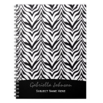 Personalized: Zebra Print Notebook
