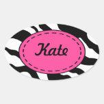 Personalized Zebra Print Stickers