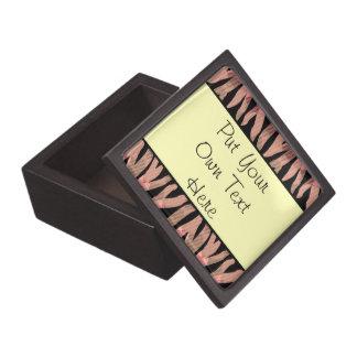 Personalized Zebra Stripe Pattern Jewelry Box Premium Gift Box