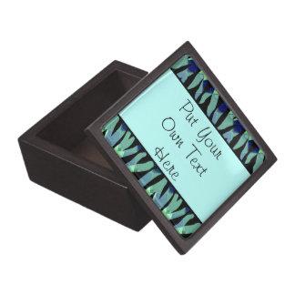 Personalized Zebra Stripe Pattern Jewelry Box Premium Trinket Boxes