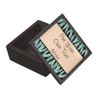 Personalized Zebra Stripe Pattern Jewelry Box Premium Gift Boxes